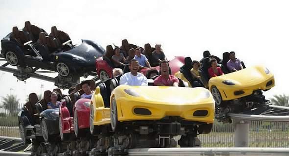 Ferrari-achtbaan in Ferrari World