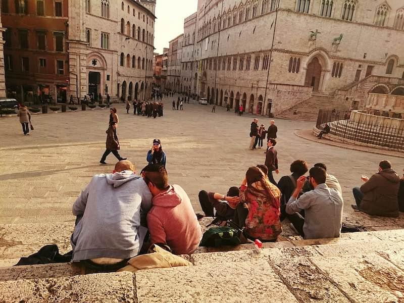 Hoofdstad Perugia van Umbrië