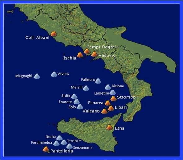 Actieve vulkanen in Italië