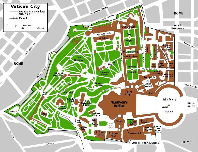 Kaart Vaticaanstad