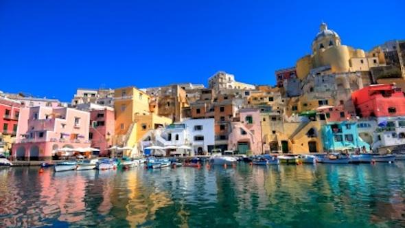 Procida, beautiful island in the mediterranean sea, Naples, Italy