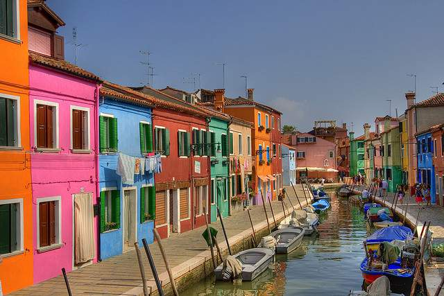 Het kleurrijke eilandje Burano