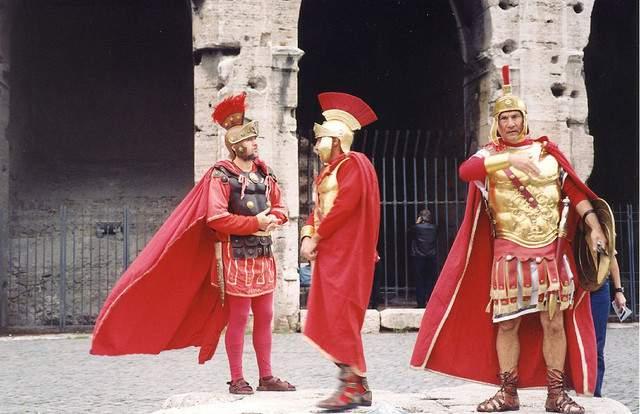 Gladiatoren in Rome: voor een foto moet je betalen! (photo credit)