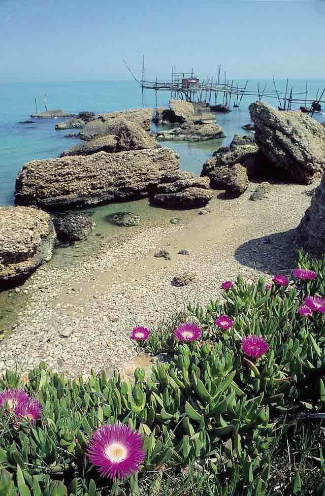 trabocchi abruzzen - adriatische kust