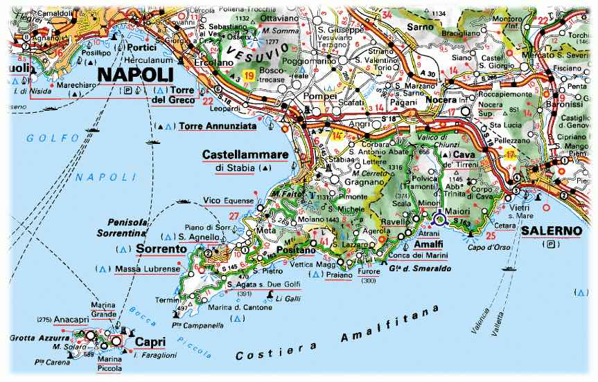 kaart Amalfikust