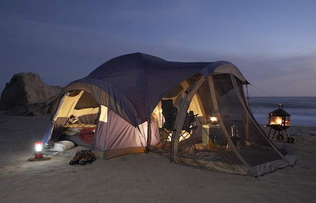 camping by night