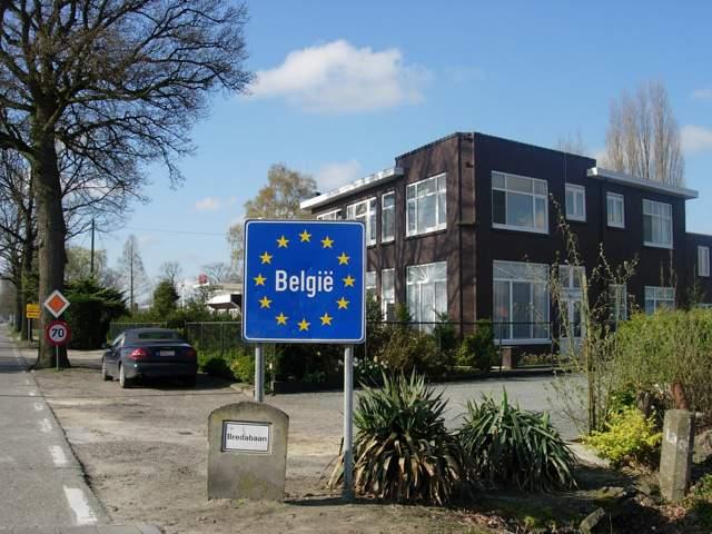 te voet naar Rome - grens België