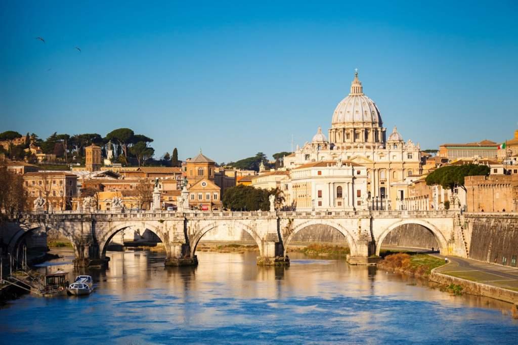 kamperen bij Rome