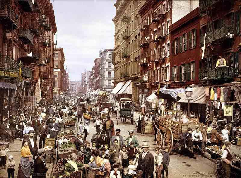 Napolitaanse liederen in Mulberry Street New York