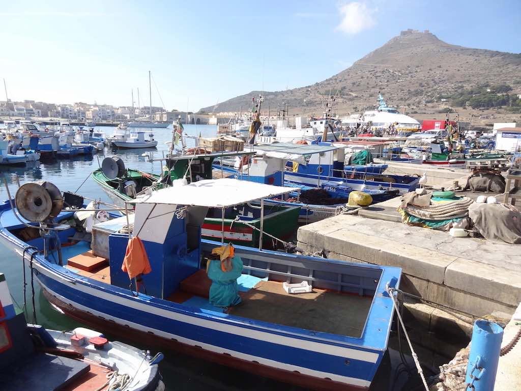 De vissershaven van Favignana