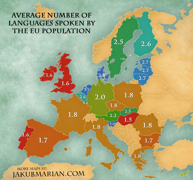 Hoeveel talen spreken Europeanen?