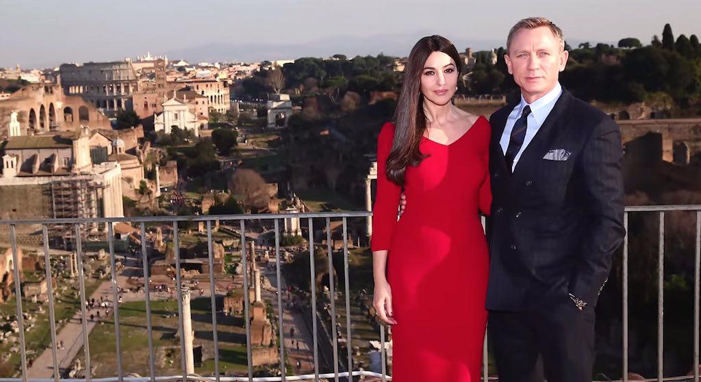 Daniel Craig Monica Bellucci in Rome