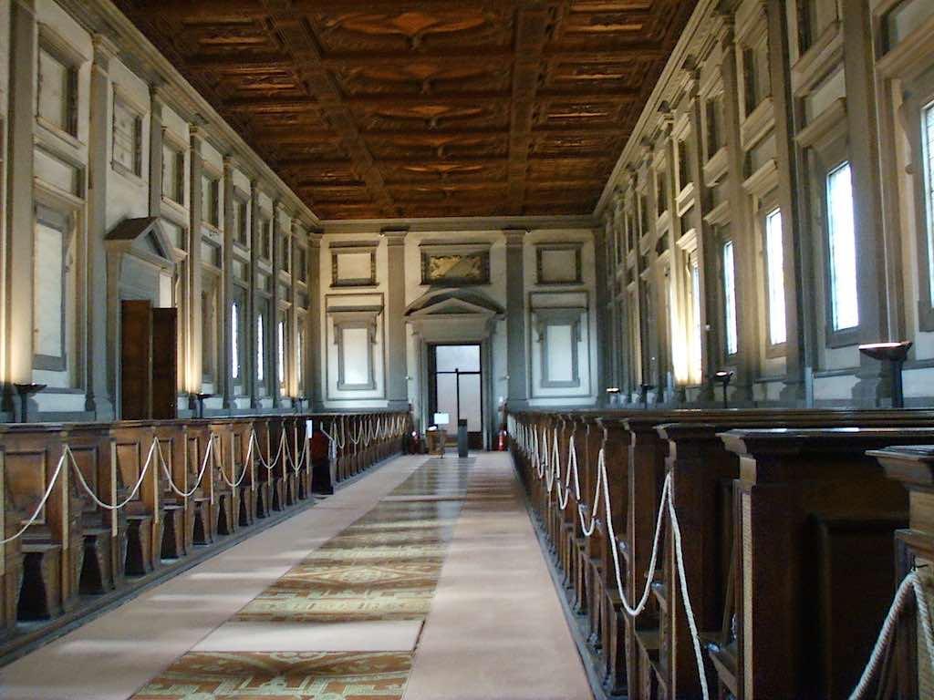 De Biblioteca Medicea Laurenziana: alle rust voor een goed boek (foto: Wikimedia)
