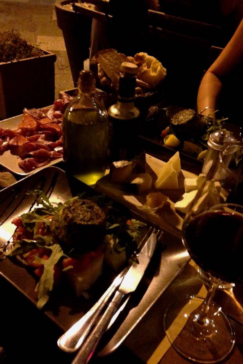La cena da ristorante Doppiozero