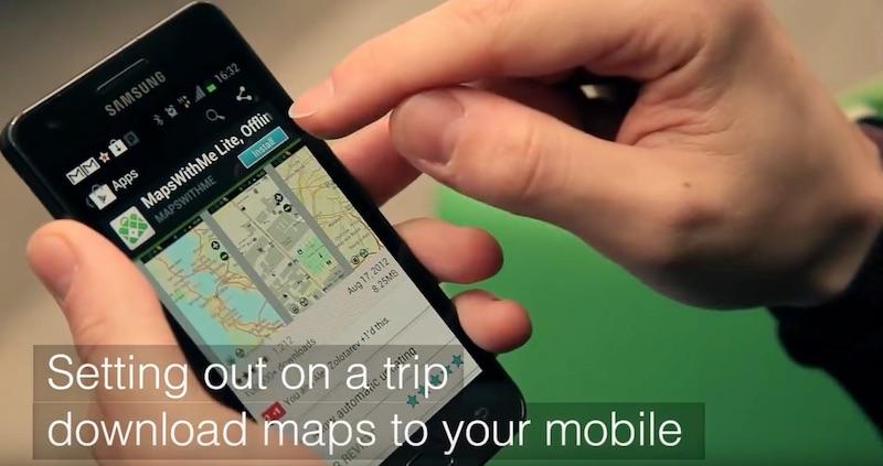 MAPS.ME navigeren zonder roaming