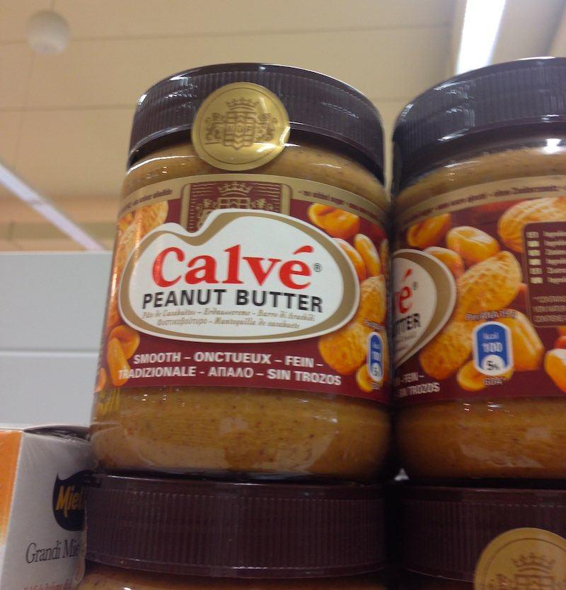 Pindakaas heet in Italië Peanut Butter, maar smaakt precies als die bij ons