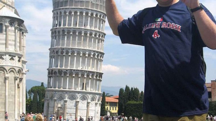 Toren van Pisa-pose clichés