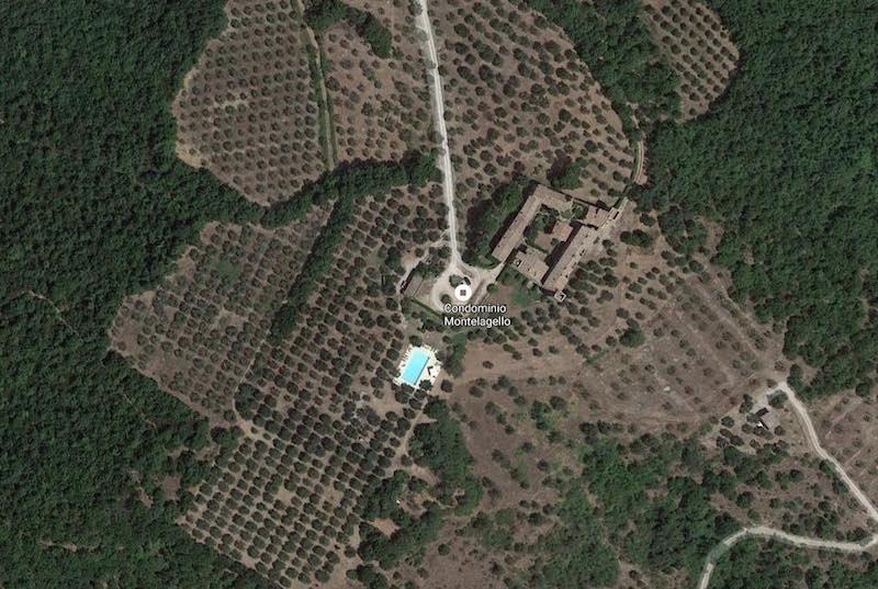 De locatie van Borgo Monte Lagello in de Umbriaanse heuvels