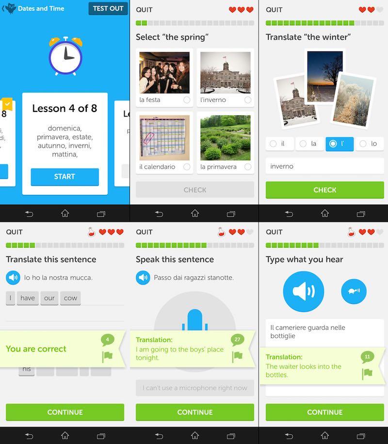 duolingo gratis app italiaans leren