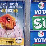 Affiches voor en tegen het Italiaanse referendum