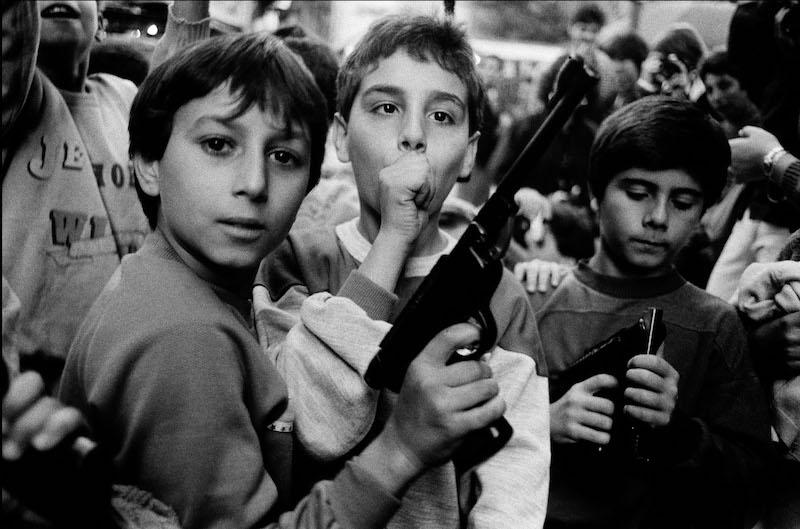 Letizia Battaglia Kinderen in Palermo 1986