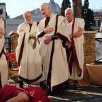 De moord op Caesar op het Marsveld waar het gebeurde