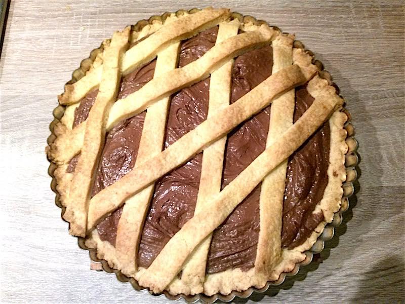 crostata semplice met Nutella