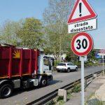Wegonderhoud Rome Het nieuwe verkeersbord bij Via Salaria Foto Rop Zoutberg