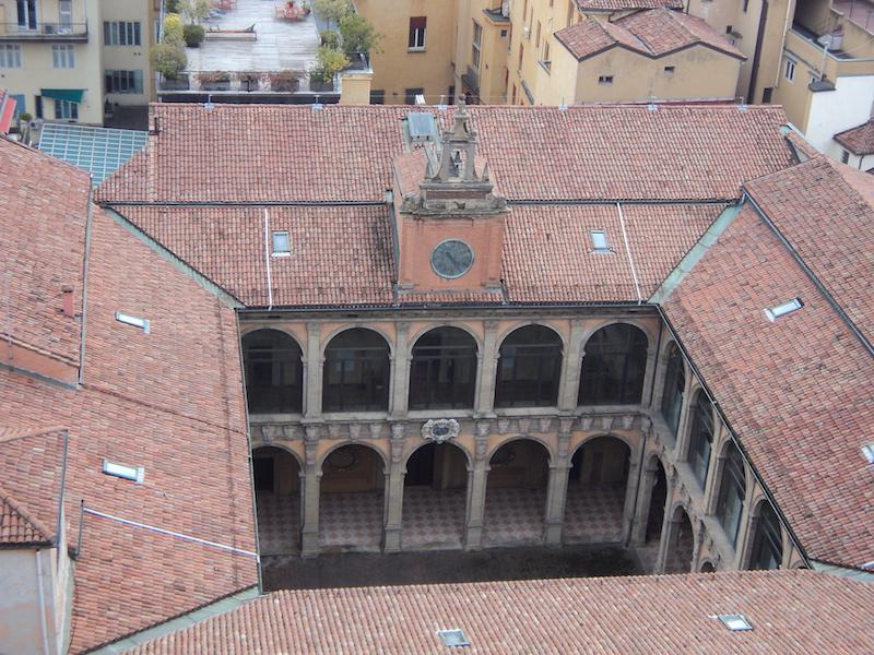 De portico's van het Archiginnasio
