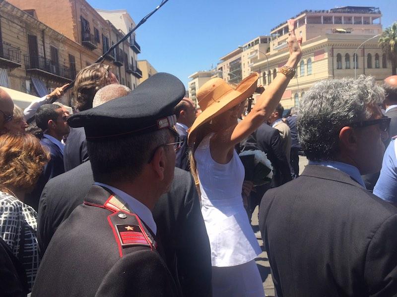 De menigte in Palermo