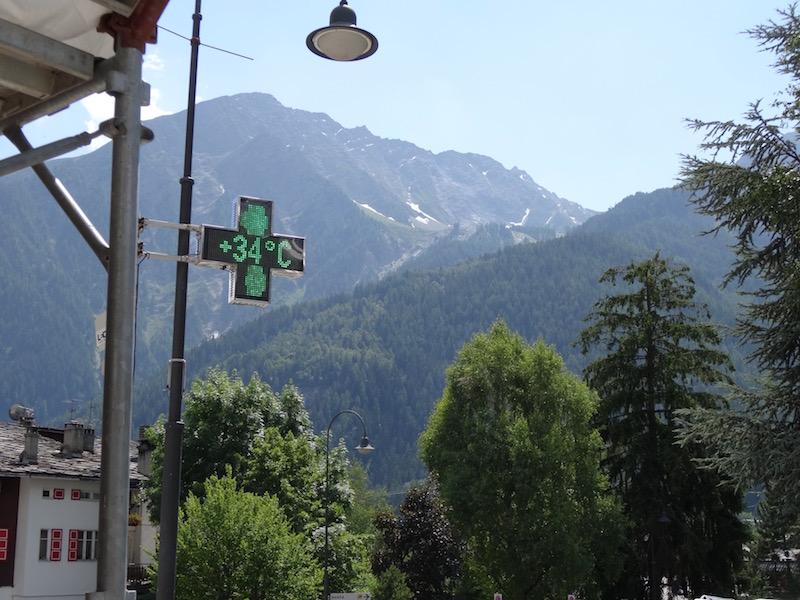 Het was heet in het Aostadal