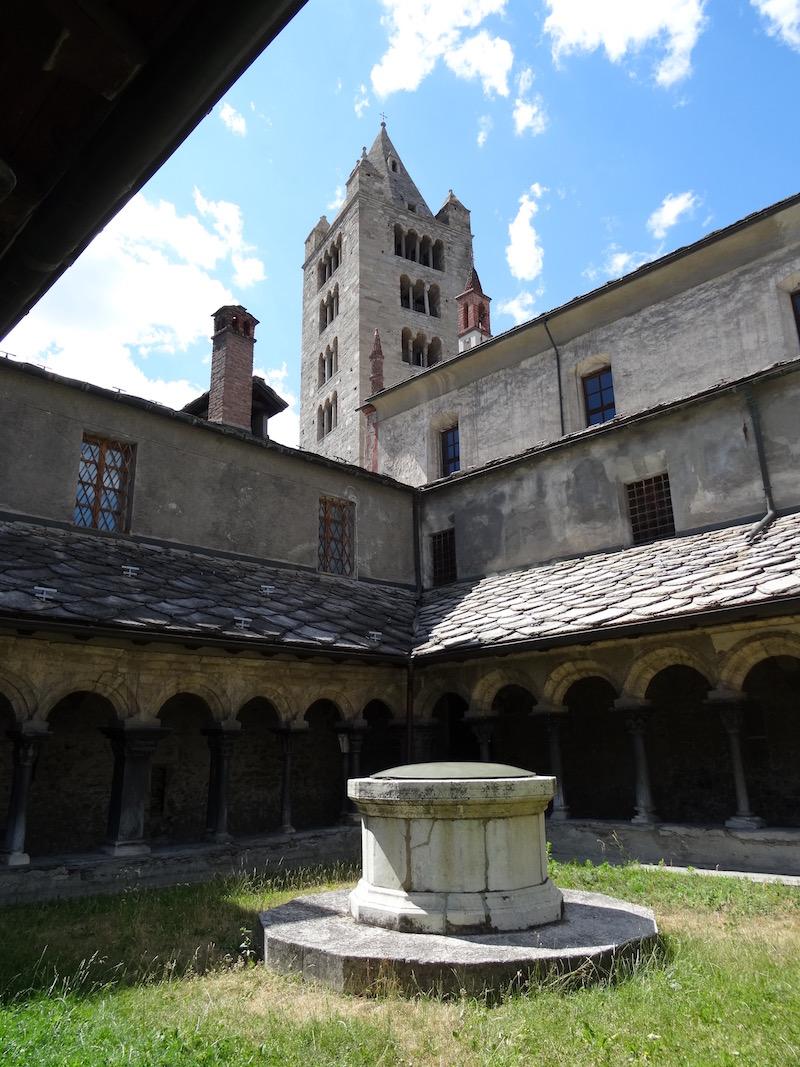 Klooster in het oude centrum van Aosta