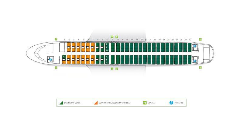Stoelrijen 13 en 17 ontbreken bij Alitalia