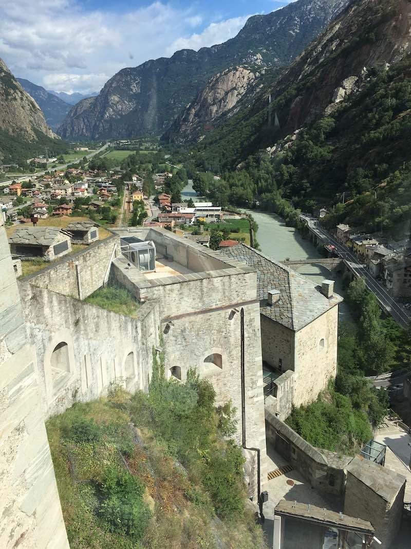 Uitzicht vanaf het Forte di Bard