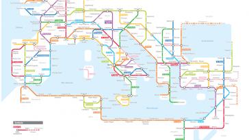De Romeinse wegen als metrokaart