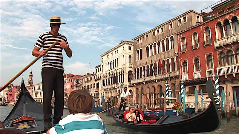 Gondolier in Venetië