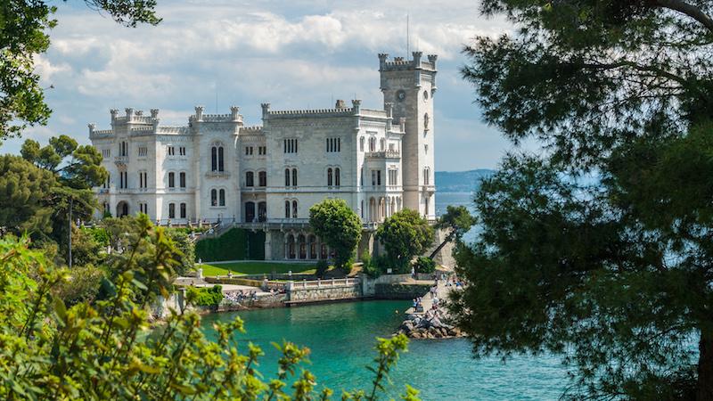 Het Castello di Miramare in Trieste