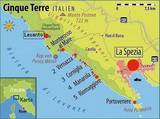 Kaart Cinque Terre