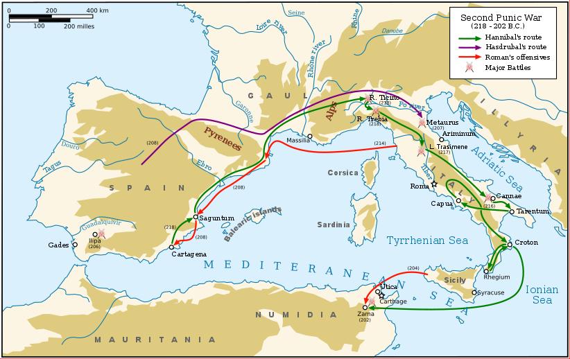 Tweede Punische Oorlog met Hannibal Barkas