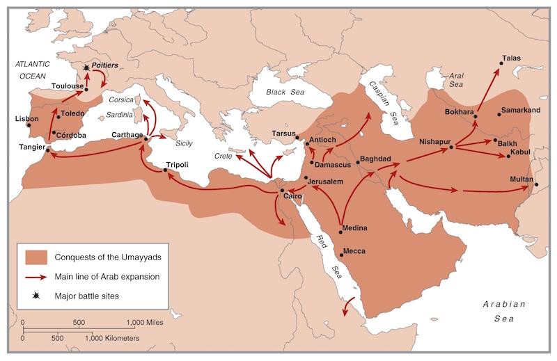 De veroveringen van de Islam in de 7de eeuw