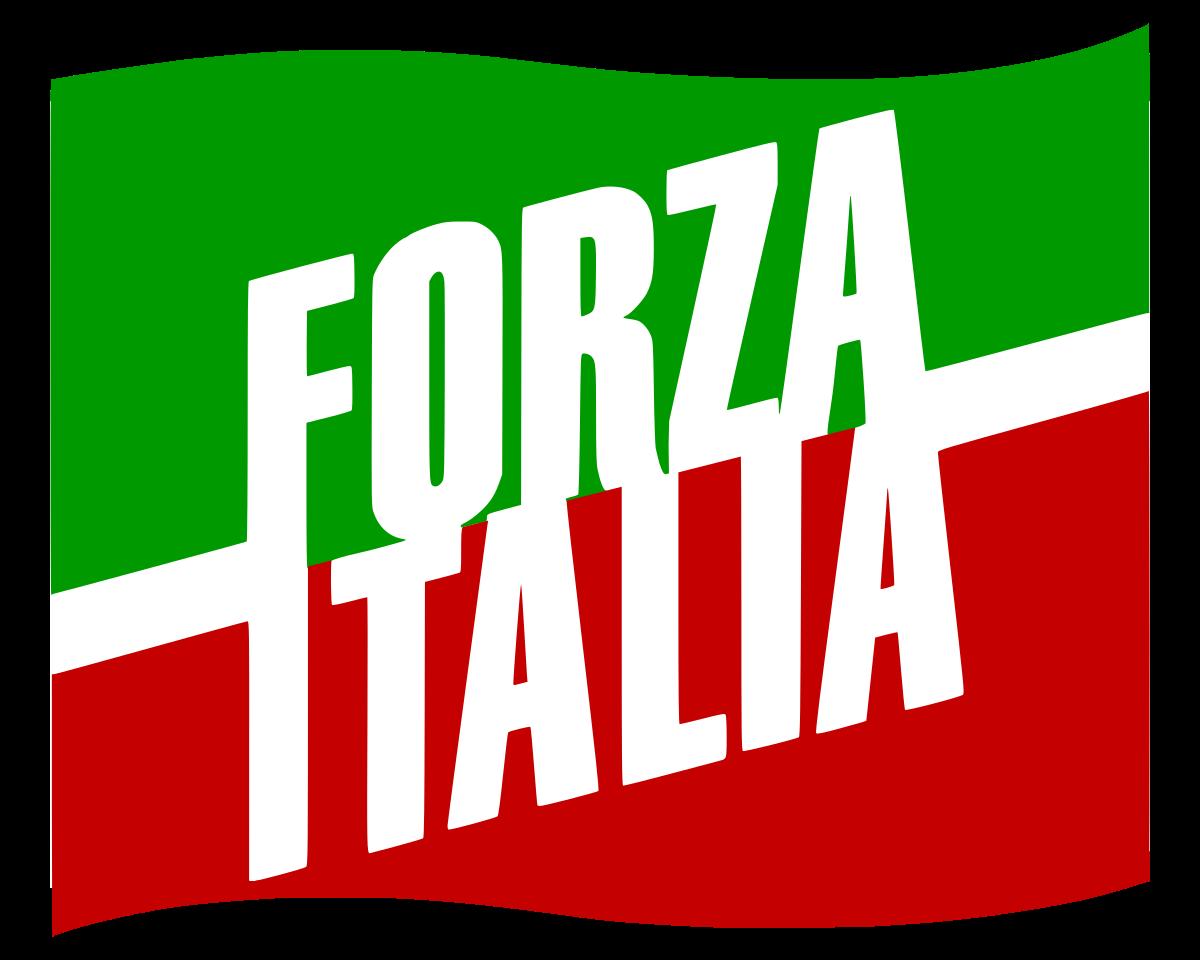 De vlag van Forza Italia