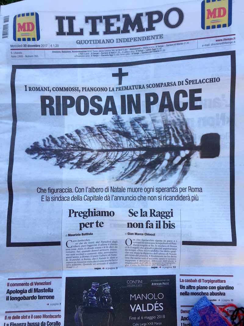 Spelacchio is dood: rust in vrede