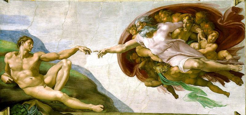 De Schepping van Adam van Michelangelo