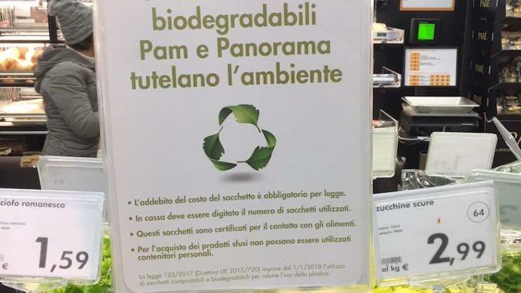 Italiaanse politieke rel om biozakjes van 2 cent