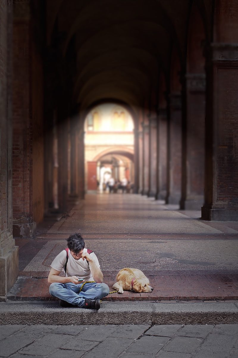 De portici van Bologna
