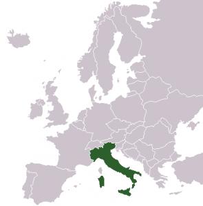 Waar ligt Italië?