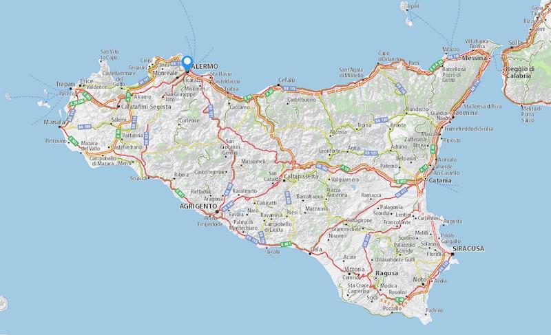 Op Sicilië zijn de afstanden groot: je hebt er een huurauto nodig