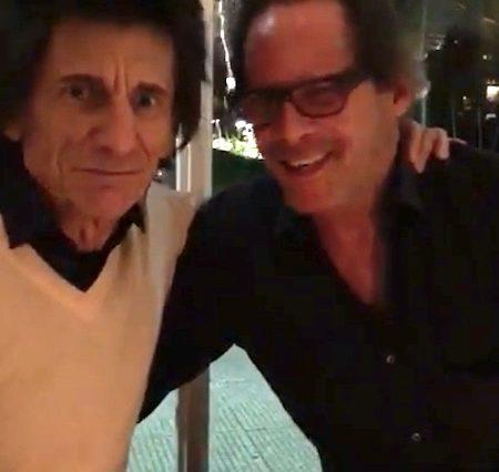 Luiz Pastore en Ronnie Wood