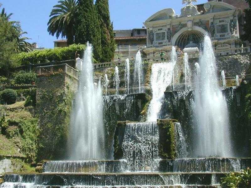 De fonteinen bij Villa d'Este in Tivoli