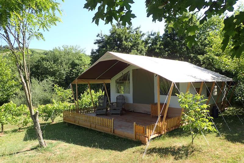 De safaritent op Camping Sensazione